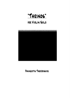 Thrinos: For violin solo, Op.21c by Panagiotis Theodossiou