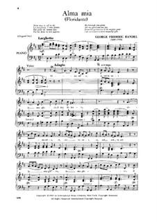 Floridante, HWV 14: Alma mia, Low Voice by Georg Friedrich Händel