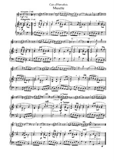 Musette: Arrangement for flute and piano by Louis de Caix d'Hervelois