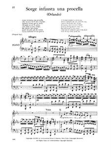 Orlando, HWV 31: Sorge infausta una procella, Low Voice by Georg Friedrich Händel