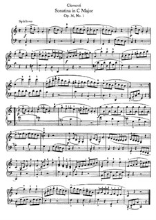 Sonatina No.1: For piano (with fingering) by Muzio Clementi