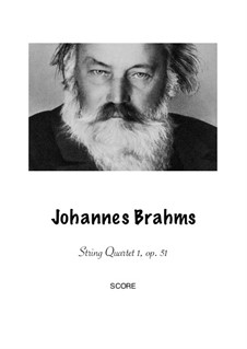 String Quartet No.1 in C Minor, Op.51: Version for flute, clarinet, bassoon and horn by Johannes Brahms
