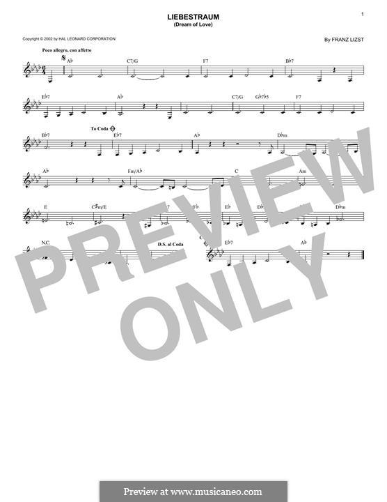 Nocturne No.3: Melody line by Franz Liszt