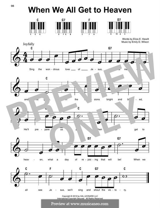 When We All Get To Heaven: For piano by Emily D. Wilson