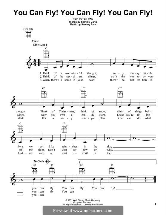 You Can Fly! You Can Fly! You Can Fly!: For ukulele by Sammy Fain