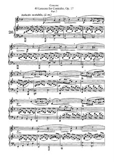Forty Lessons for Contralto or Bass, Op.17: No.26-40 Book II by Giuseppe Concone