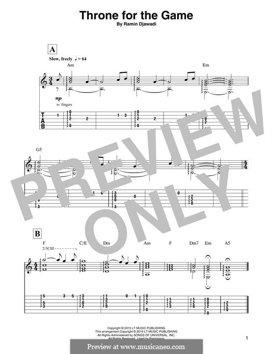 Throne for the Game (from Game of Thrones): For guitar by Ramin Djawadi