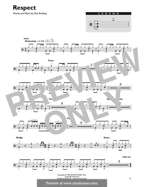 Respect (Aretha Franklin): Drum set by Otis Redding