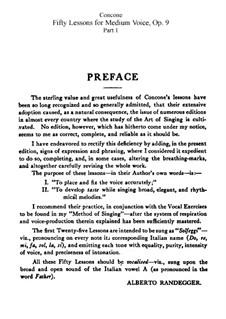 For Medium Voice: No.1-25 Book I by Giuseppe Concone