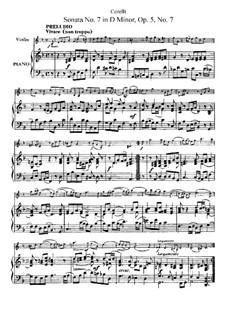 Sonata No.7: Arrangement for violin and piano by Arcangelo Corelli