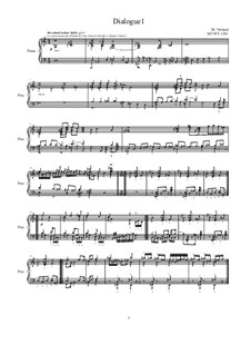 Dialogues for piano: Dialogue 1, MVWV 1301 by Maurice Verheul
