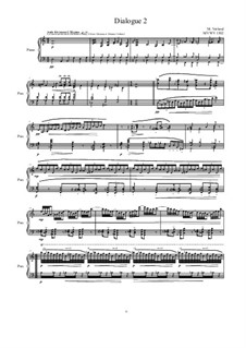 Dialogues for piano: Dialogue 2, MVWV 1302 by Maurice Verheul