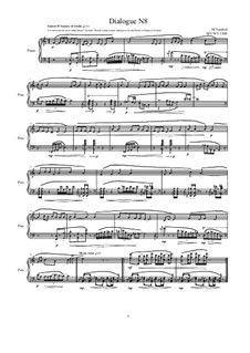 Dialogues for piano: Dialogue 8, MVWV 1308 by Maurice Verheul