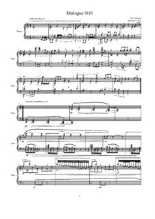 Dialogues for piano: Dialogue 10, MVWV 1310 by Maurice Verheul