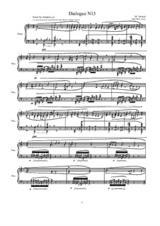Dialogues for piano: Dialogue 13, MVWW 1313 by Maurice Verheul