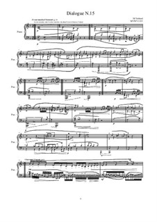Dialogues for piano: Dialogue 15, MVWV 1315 by Maurice Verheul