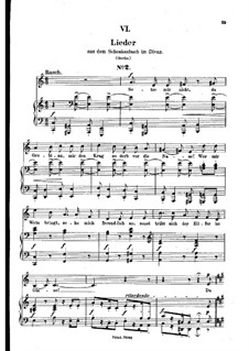 No.6 Setze mir nicht, du Grobian (Chansons à boire): Piano-vocal score (German text) by Robert Schumann