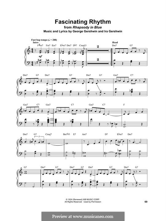 Fascinating Rhythm: For piano by George Gershwin