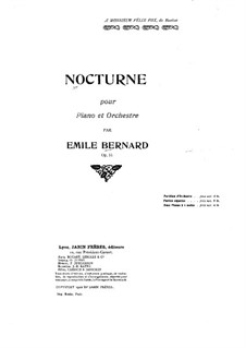Nocturne for Piano and Orchestra, Op.51: Nocturne for Piano and Orchestra by Émile Bernard