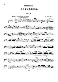 Elfentanz für drei Violinen, Op.2: Violinstimme I by Oskar Bolck