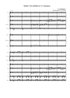 Joke Quadrille. Orchestra Suite: Joke Quadrille. Orchestra Suite by Alexander Glazunov, Nikolai Rimsky-Korsakov, Nikolay Sokolov, Anatoly Lyadov, Nikolaï Vasilyevich Artsybushev, Ivan Wihtol