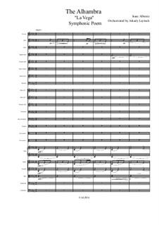 La Vega: For symphonic orchestra by Isaac Albéniz