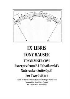 Fragments: Excerpts, for two guitars by Pyotr Tchaikovsky