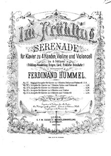 In Spring. Serenade for Piano Four Hands, Violin and Cello, Op.37: Violin part by Ferdinand Hummel