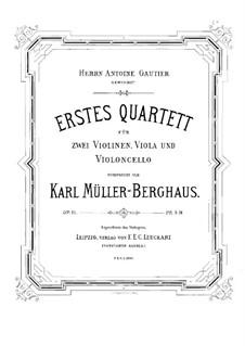 String Quartet No.1 in C Major, Op.11: Violin I part by Karl Müller-Berghaus