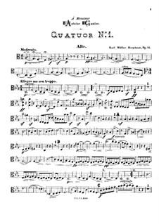 String Quartet No.1 in C Major, Op.11: Viola part by Karl Müller-Berghaus