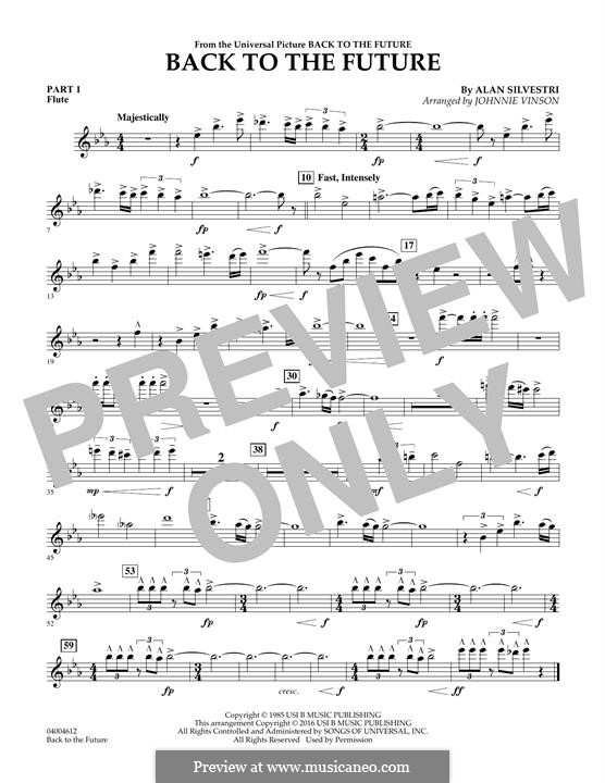 Back to the Future (Theme): Pt.1 - Flute part by Alan Silvestri