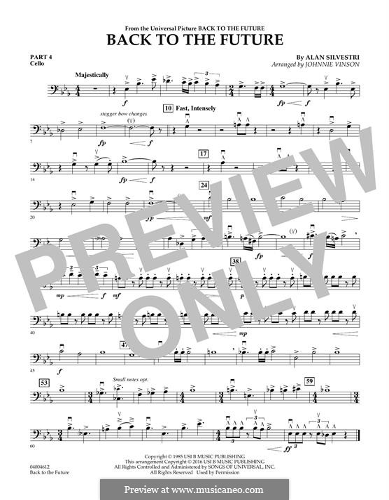Back to the Future (Theme): Pt.4 - Cello part by Alan Silvestri