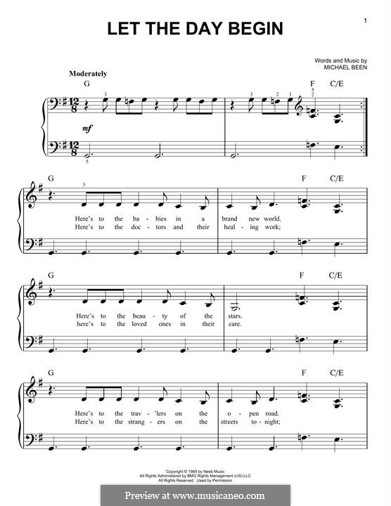 Let the Day Begin: For piano by Michael Been