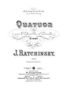 String Quartet in G Minor, Op.17: Violin II part by Gavrila Andreevich Ratchinsky