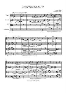String Quartet No.40: String Quartet No.40 by Jordan Grigg