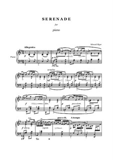 Serenade for String Orchestra, Op.20: For piano solo by Edward Elgar