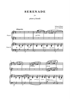 Serenade for String Orchestra, Op.20: For piano four hands by Edward Elgar