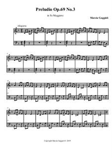 Preludios, Op.69: Preludio No.3 in Fa Maggiore by Marzia Gaggioli