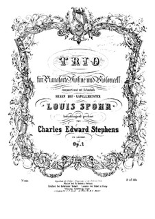 Piano Trio in F Major, Op.1: Violin part by Charles Edward Stephens