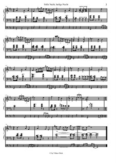 Silent Night, for Solo Instrument: For organ by Franz Xaver Gruber