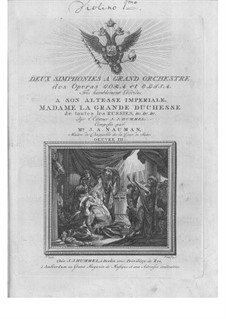 Two Synfonie for Orchestra from Operas 'Cora' and 'Elisa', Op.3: Two Synfonie for Orchestra from Operas 'Cora' and 'Elisa' by Johann Gottlieb Naumann