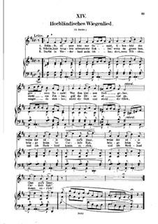 No.14 Hochländisches Wiegenlied (Highland Lullaby): Piano-vocal score (German text) by Robert Schumann