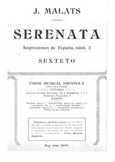 Serenade for Violin and Piano: Serenade for Violin and Piano by Joaquín Malats