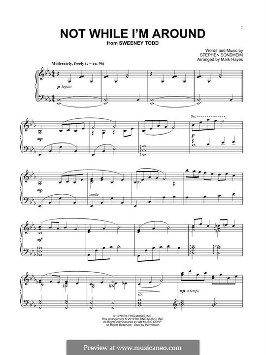 Not While I'm Around: For piano by Stephen Sondheim