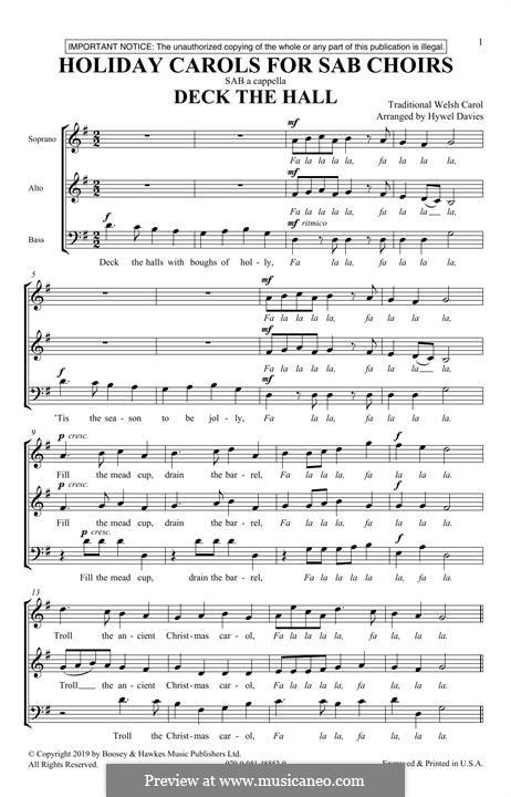 Holiday Carols for SAB Choirs: Holiday Carols for SAB Choirs by folklore