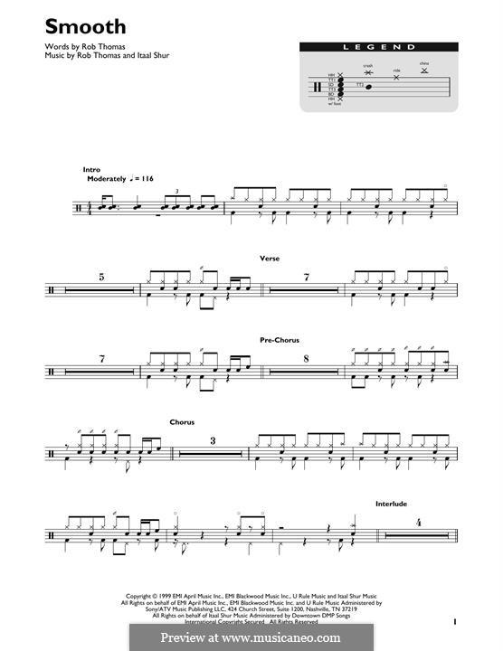 Smooth (Santana featuring Rob Thomas): Drum set by Itaal Shur, Rob Thomas