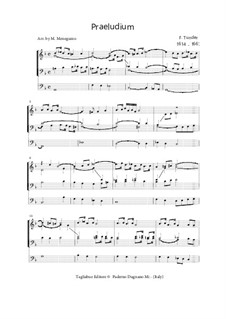 Praeludium in G minor for Organ 3 staff: Praeludium in G minor for Organ 3 staff by Franz Tunder