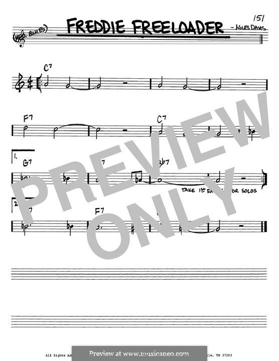 Freddie Freeloader: For guitar by Miles Davis