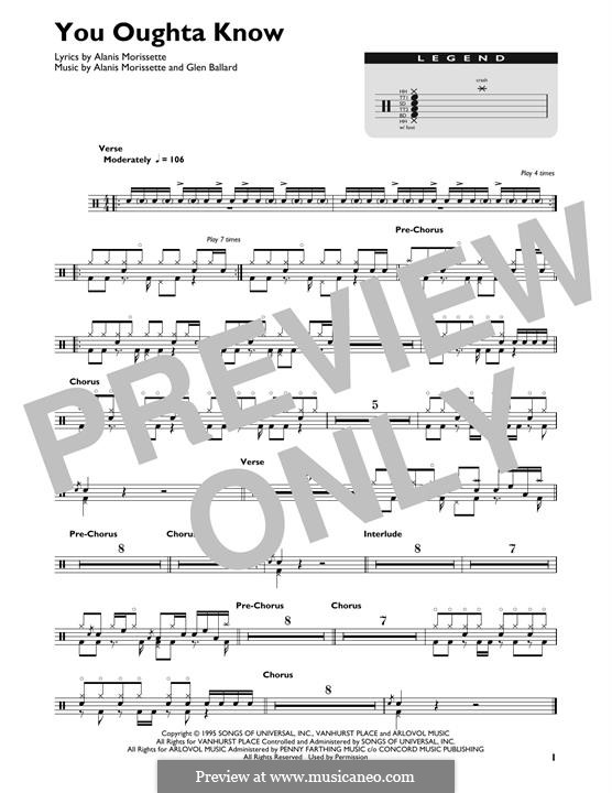 You Oughta Know: Drum set by Glen Ballard