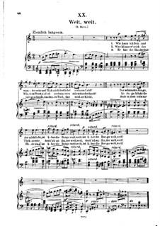 No.20 Weit, weit (Celui que j'aime est loin): Piano-vocal score (German text) by Robert Schumann